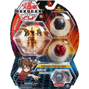 Bakugan Starter Pack mit 3 Bakugan - Aurelus Dragonoid
