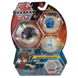 Bakugan Starter Pack met 3 Bakugan - Darkus Gorthion