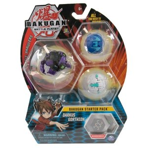 Bakugan Starter Pack with 3 Bakugan - Darkus Gorthion