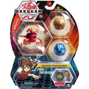 Bakugan Starter Pack with 3 Bakugan - Pyrus Turtonium
