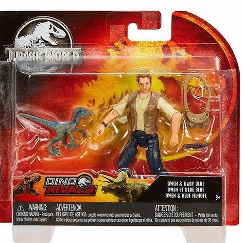Jurassic World Dino Rivals - Owen & Baby Blue