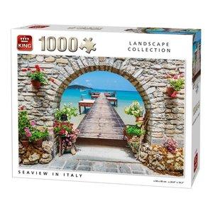 King Puzzel 1000 stukjes - Zeezicht in Italie