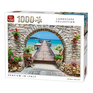 King Puzzle 1000 pieces - Sea view in Italy