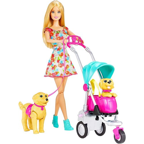 Barbie Strollin' Pups Playset