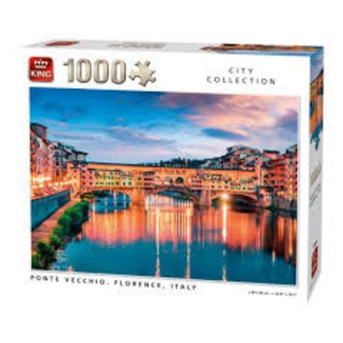 King Puzzel 1000 stukjes - Ponte Vecchio, Florence