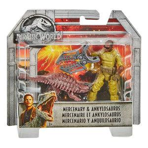 Jurassic World Dino Rivals - Mercenary & Ankylosaurus