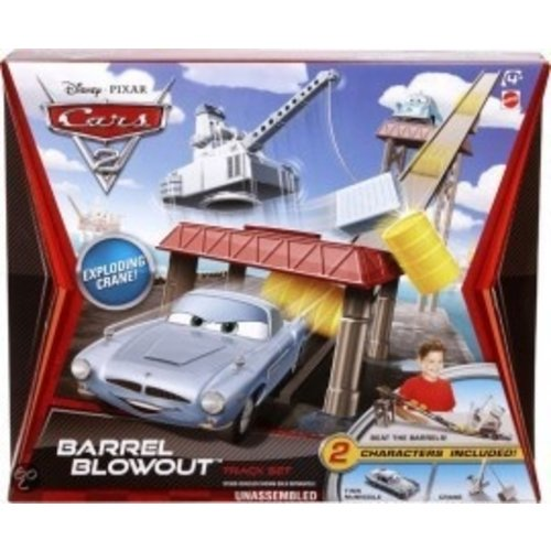 Disney Cars Barrel Blowout Trackset