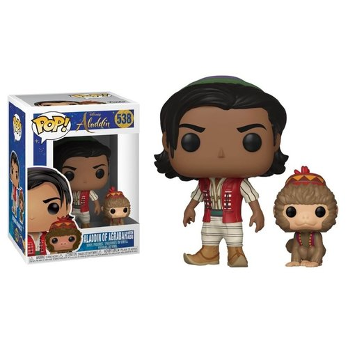 Disney Funko Pop - Aladdin of Agrabah with Abu - No 538