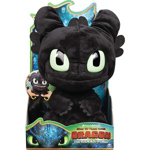 Dragons Squeeze & Roar Toothless Pluche Knuffel