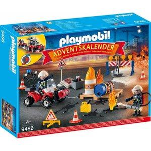 Playmobil 9486 - Adventskalender 'Feuerwehreinsatz auf der Baustelle'