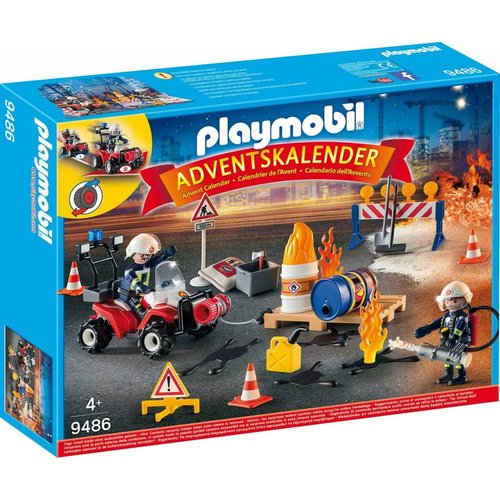 Playmobil 9486 - Adventskalender 'Brand op de Bouwplaats'