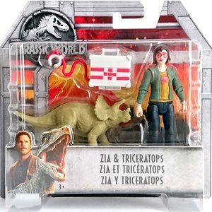 Jurassic World Dino Rivals - Zia en Triceratops - SALE