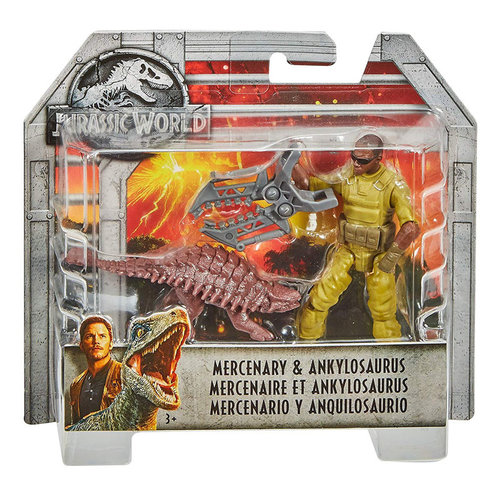 Jurassic World Dino Rivals - Mercenary & Ankylosaurus - SALE