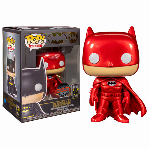 DC Comics Funko Pop - Batman - No 144 - Red Metallic - Special Edition