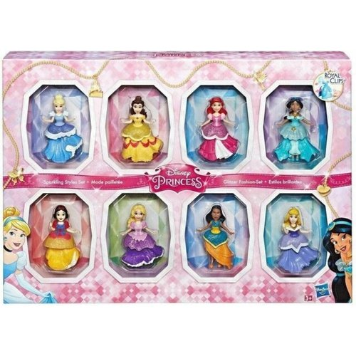 Disney Princess Sparkling Style Set - 8 Dolls