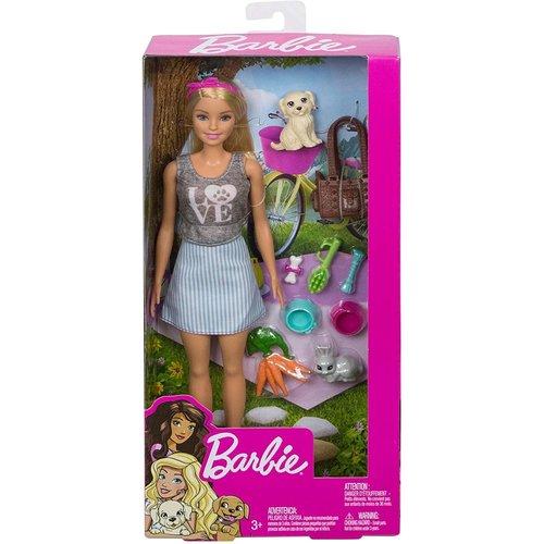 Barbie Picknick Pop met dieren