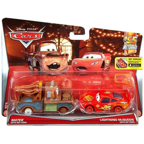 Disney Cars Mater & Lightning Mcqueen with no Tires (2-Pack) - SALE