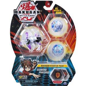 Bakugan Starter Pack with 3 Bakugan - Diamond Phaedrus