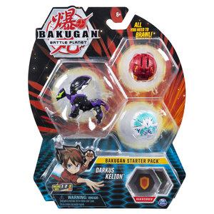 Bakugan Starter Pack met 3 Bakugan - Darkus Kelion