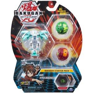 Bakugan Starter Pack met 3 Bakugan - Haos Hyper Dragonoid