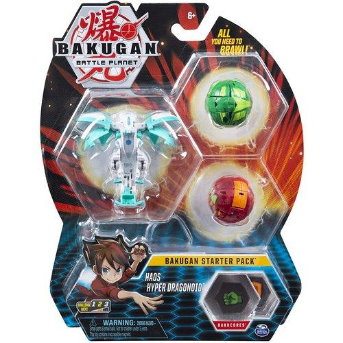 Bakugan Starter Pack with 3 Bakugan - Haos Hyper Dragonoid