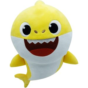 Baby Shark Baby Haai Zingende Knuffel - Geel