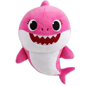 Baby Shark Moeder Haai Zingende Knuffel - Roze