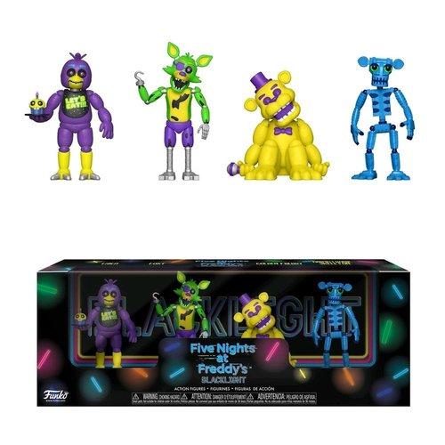 Five Nights at Freddy's Five Nights at Freddy's - Blacklight Chica, Foxy, Golden Freddy, Animated Skeleton - 4 Pack