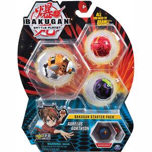 Bakugan Starter Pack with 3 Bakugan - Aurelus Gorthion