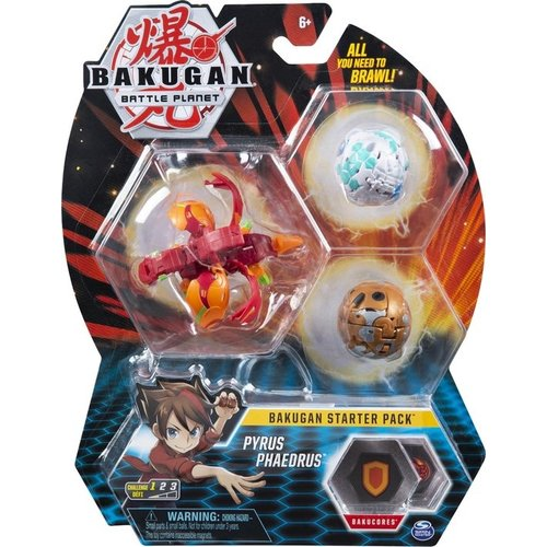 Bakugan Starter Pack with 3 Bakugan - Pyrus Phaedrus