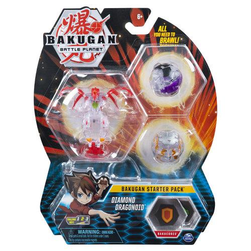 Bakugan Starter Pack met 3 Bakugan - Diamond Dragonoid
