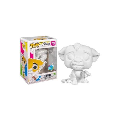Disney Funko Pop - Simba - DIY- Wit - No 728