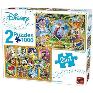 King Puzzel 2 in 1 - Disney Hearts of Gold and Movie Magic - SALE