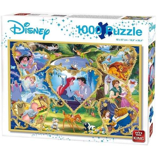 King Puzzel 1000 stukjes - Disney Movie Magic Puzzel - SALE