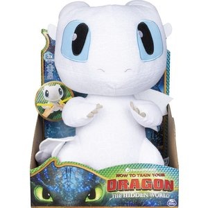 How to Train Your Dragon Squeeze & Growl - Plush Lightfury Dragon with Sound - SALE