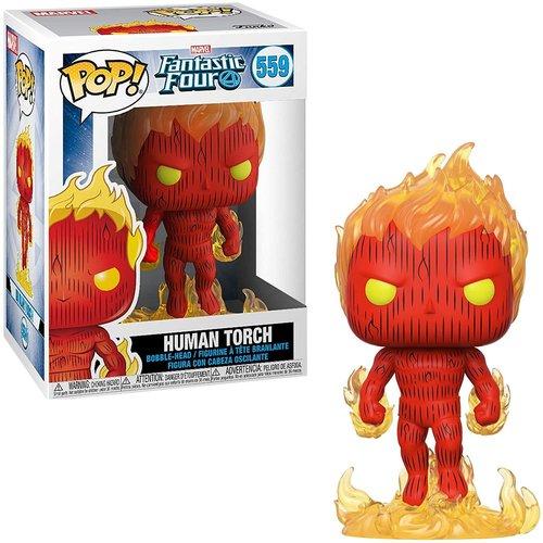 Fantastic Four Funko Pop - Human Torch - No 559 - SALE