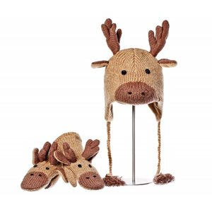 Knitwits Dierenmuts MANNY de eland