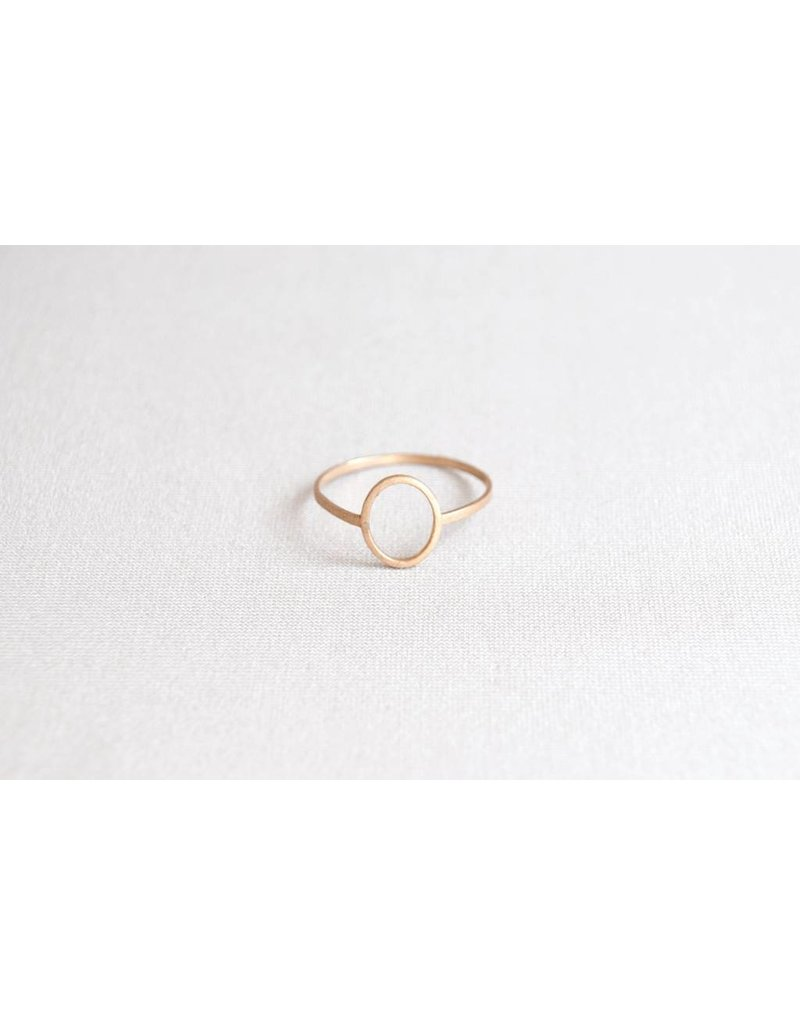 Jenny From The Block Oval Hoop Ring