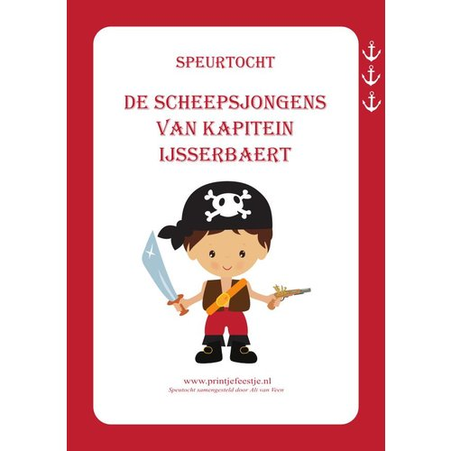 Speurtocht Piraten, 5 t/m 7 jr
