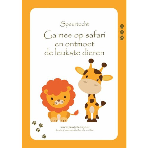 Speurtocht Safari, 4 t/m 6 jr