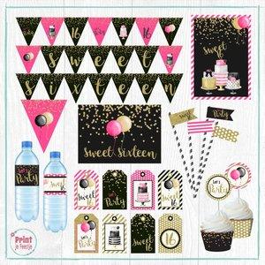 Feestpakket Sweet Sixteen DIY