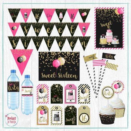 Sweet Sixteen Feestpakket