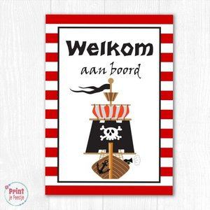Welkomstposter Piraten DIY
