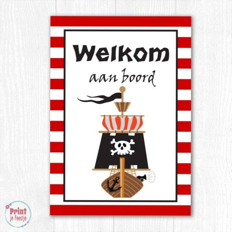 Welkomstposter Piraten DIY