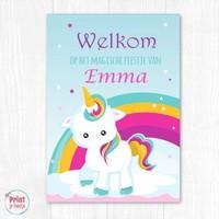 Welkomstposter Eenhoorn / Unicorn DIY