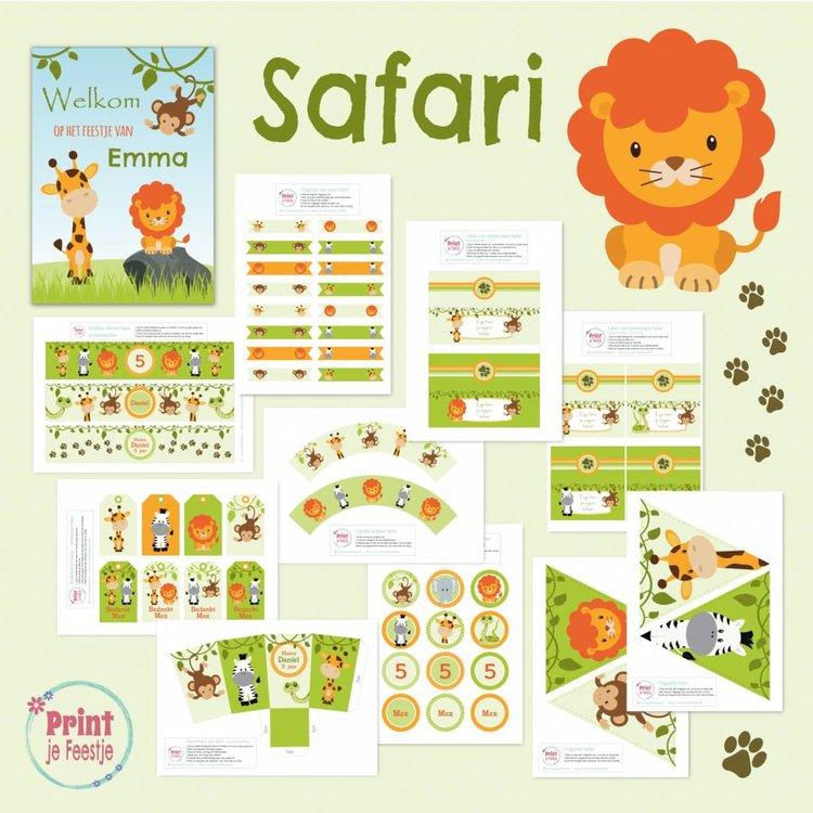 Feestpakket Safari DIY