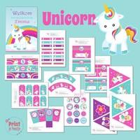 Feestpakket Eenhoorn / Unicorn DIY