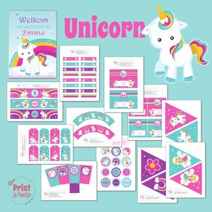 Feestpakket Eenhoorn / Unicorn Feestpakket DIY