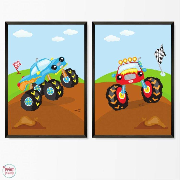Set van 2 posters Monstertrucks