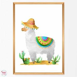 Poster Lama Strohoed